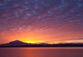 пуэрто-варас, небо, Chile, puerto varras, закат, вечер