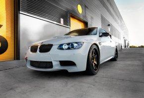 BMW, M5, white, �����, ���