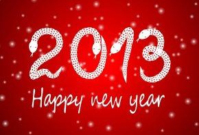 Обои Новый год, 2013, змея, happy new year
