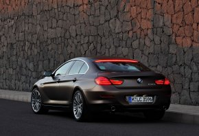 машина, 2013 bmw 6-series gran coupe, car, БМВ, коричневая