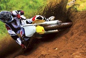мотоциклы, кросс, мотокросс, земля, колеса