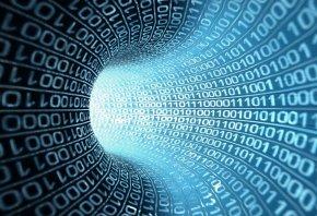 Обои код, туннель, один, ноль, сеть, 3D