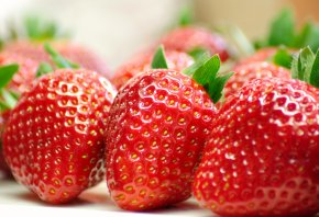 клубника, ягода, красная, сладкая, еда