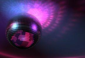 Шар, круглый, диско, светится, Disco Ball