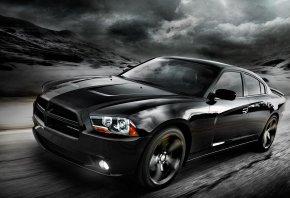 Dodge, Blacktop, додж, черный, дорога
