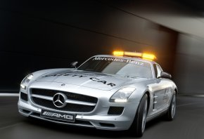 Обои Mercedes-Benz, AMG, F1, Safety Car, мерседес, мигалки, сирена
