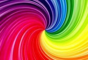 Яркие, разноцветные, волны, цвета, радуга