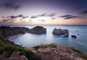 Морской пейзаж, море, берег, скалы