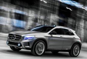 Обои Mercedes-Benz, GLA, Concept, в движении, мерседес