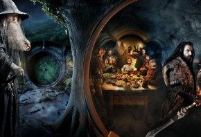 The Hobbit, Хоббит, Нежданное путешествие, Гэндальф, Бильбо, Торин, гномы, Хоббитон, Шир, нора