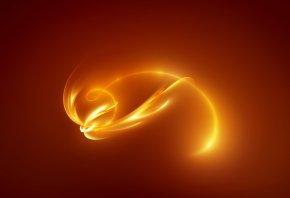 Обои фон, оранжевый, свечение, Линии, свет, цвет, желтый