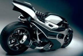 Обои мотоцикл, байк, просто монстр, хром, скорость