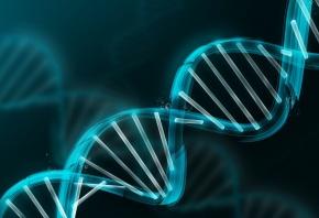 Обои ДНК, молекула, модель, синие