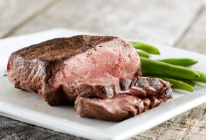 мясо, стейк, стручки, обед, тарелка