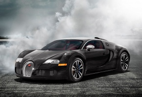 Bugatti, суперкар, бугатти, veyron, дым
