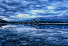 Canada, Канада, озеро, горы, отражение