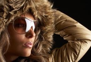 очки, куртка, мода, капюшон, личико