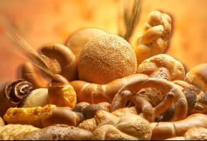 бублики, выпечка, хлеб, булки, рогалики, колоски