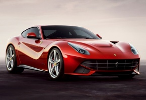 ferrari, f12, феррари, суперкар, красный, передок, красивая машина