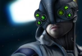 Cyberpunk 2077, арт, игра, полиция, лицо