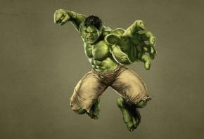 Обои Мстители, The Avengers, халк, hulk, монстр, зеленый, кулак, комикс