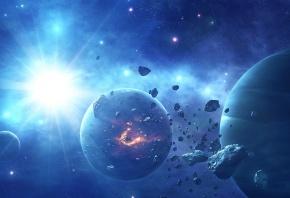 планеты, астероиды, звезды, звезда, яркая