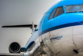 Air France, самолёт, кабина, хвост, двигатель
