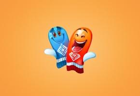 веселые варежки, синий, красный, олимпиада, сочи, радость, улыбки