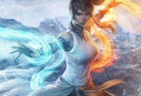 Обои Avatar, аватар, вода, огонь