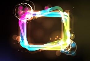 Обои Абстракция, прямоугольник, круги, цвета