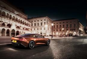 Обои Aston Martin Vanquish, машина, авто, улица, движение, мощь