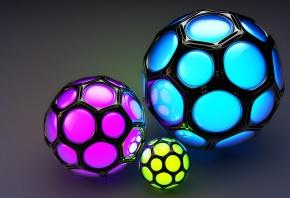 шары, ячейки, соты, цветные, фон