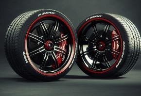 Колёса, тема, красный, черный
