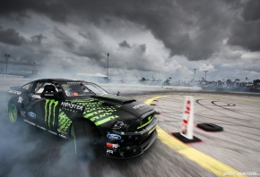 SpeedHunters, Monster Energy, Mustang RTR, Мустанг, дрифт, дым