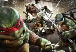 меч, черепашки, ниндзя, герои, мутанты