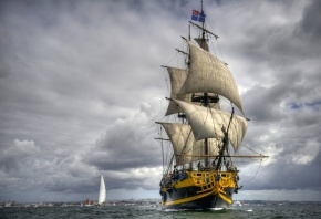 grand turk, фрегат, парусник, море