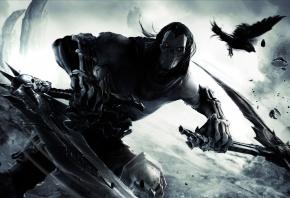 Darksiders II, Darksiders 2, всадник, всадник Апокалипсиса, кости, маска, косы, Смерть, death, Ворон, Удар, Замах, Пыль, THQ