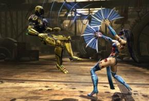 Обои Mortal Kombat, Komplete Edition, Kitana, Cyrax, попался