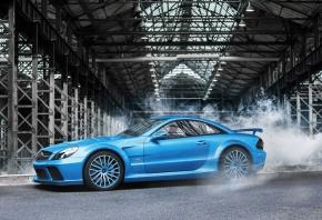 Обои Mercedes-Benz, SL-Klasse, 65, AMG, blue, profile, Aksyonov Nikita Andreevich, мерседес бенц, синий