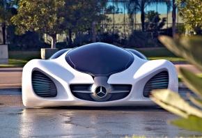 Авто, белый, Mercedes, Biome, 2010, Арт