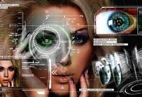 девушка, лицо, face, взгляд, глаза, технологи, будущее, изменение лица