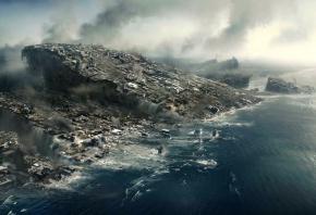 2012, катастрофа, плиты, город, разрушения