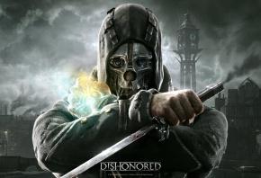маска, кинжал, корво, телохранитель, bethesda, Dishonored