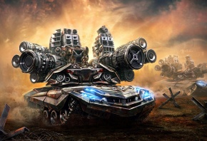 арт, Aleksandr Kuskov, танк, пушки, оружие, солдаты