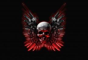 череп, красные оружие, The Expendables