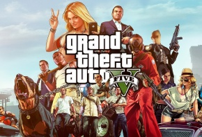 GTA 5, Grand Theft Auto V, Michael, Trevor Phillips, Franklin, Rockstar North, Rockstar Games, �������, �����, ������, ���, ����, ����, wallpaper