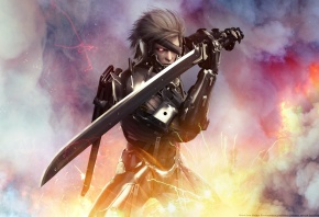 Metal Gear, Rising, Revengeance, �������, Raiden, ������, ���, cybernetic ninja, ��������������� ������, Jack the Ripper, wallpaper, Katana