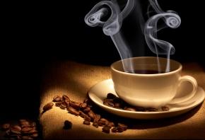 Обои зерна, аромат, пар, Кофе, напиток