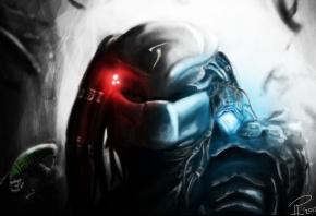 арт, predator, хищник, шлем, лазер, символ