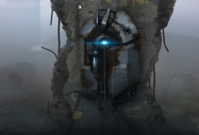 Обои Half-Life 2, ломик, устройсво, разруха  Sergey Lesiuk, Сергей Лесюк, арт
